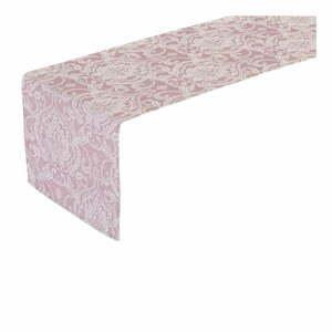 Ružový behúň na stôl Unimasa Vintage, 150 x 45 cm