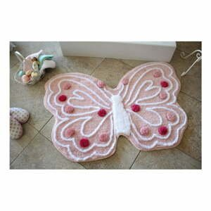 Kúpeľňová predložka Kelebek Pink, 70 x 120 cm