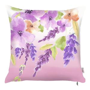 Fialová obliečka na vankúš Apolena Field Flowers, 43×43cm