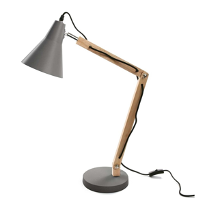 Sivá stolová lampa Versa Work
