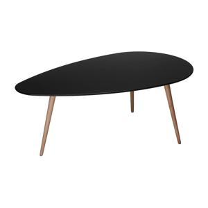 Čierny konferenčný stolík s nohami z bukového dreva Furnhouse Fly, 116 x 66 cm