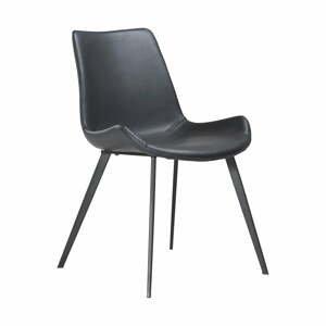Čierna jedálenská stolička z eko kože DAN–FORM Denmark Hype