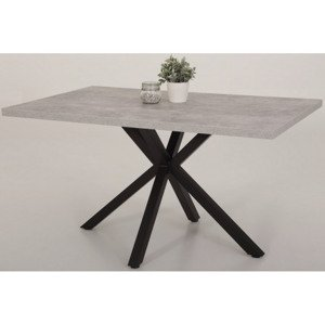 Jídelní stůl Cleo 140x90 cm, šedý beton%