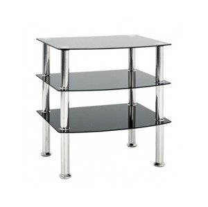 Odkladací stolík Katja 54x45 cm, černé sklo%
