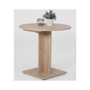 Okrúhly jedálenský stôl Rieke 80 cm, rozkladací%