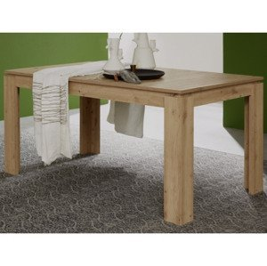 Rozkladací jedálenský stôl Universal 160x90 cm, dub Wotan%