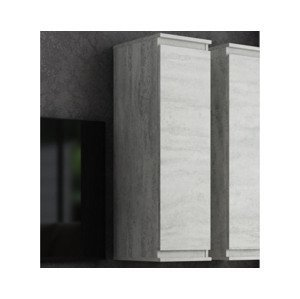 Nástenná skrinka Carlos, šedý betón, 28 cm%