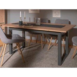 Rozkladací jedálenský stôl Denver 160x90 cm, dub artisan/antracit%