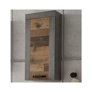 Nástenná kúpeľňová skrinka Indiana, vintage optika dreva%