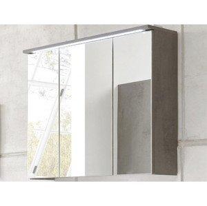 Kúpeľňová skrinka so zrkadlom Indiana, s osvetlením%