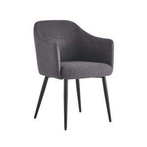 Jedálenská stolička Colon, tmavo šedá vintage%