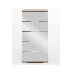 Skrinka s 5 zásuvkami Easy Plus, 49 cm, dub sonoma/zrkadlo%
