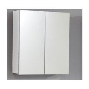 Kúpeľňová skrinka so zrkadlom Skin, biela%