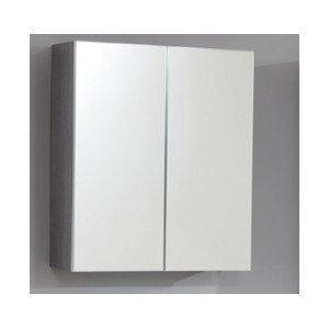 Kúpeľňová skrinka so zrkadlom Skin, dymovo sivá%