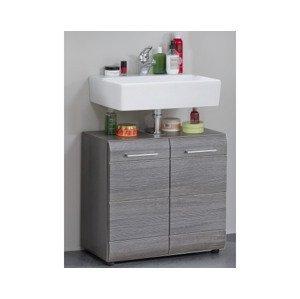 Kúpeľňová skrinka pod umývadlo Skin, dymovo sivá%