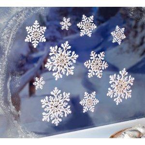 3D snehové vločky, 15 ks