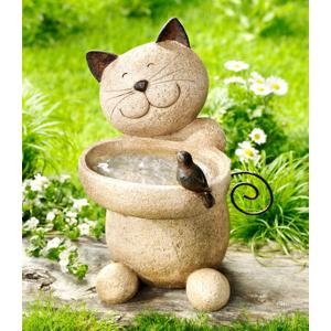 Fontánka s pitnou vodou pre vtáky Mačka