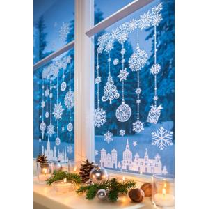 Samolepky na okno Zimný čas, 48 dielov