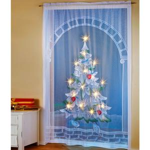 LED záves stromček, 150x220 cm