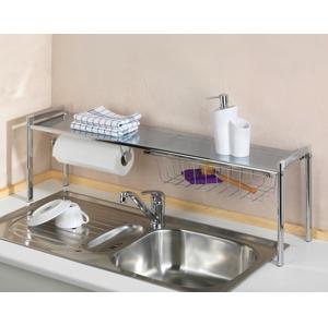 Regál na čistiace prostriedky nad kuchynský drez