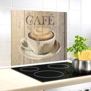 Sklenená doska za sporák Café, 60 x 50 cm