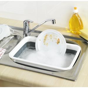 Lavor na umývanie skladací obdĺžnikový, sivý