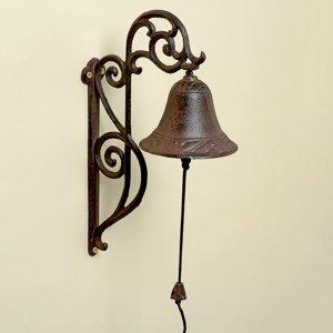 Zvonček na stenu liatinový