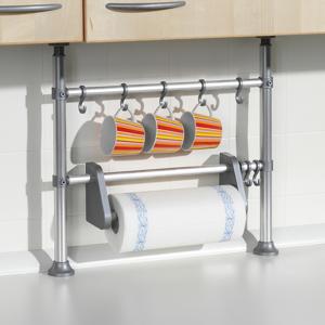Teleskopická polička do kuchyne s držiakom na utierky