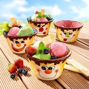 Misky na zmrzlinu, 4 ks