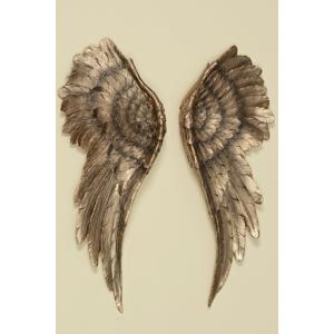Nástenná dekorácia Anjelské krídla, farba zlatá