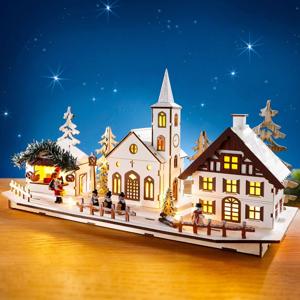 LED dekorácie Drevená dedinka