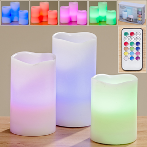 LED sviečky Eternity, súprava 3 ks