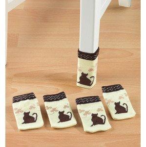 Ochranné ponožky na stoličku Mačka, 4 kusy