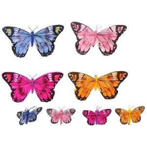 Sada 3D motýľov na stenu