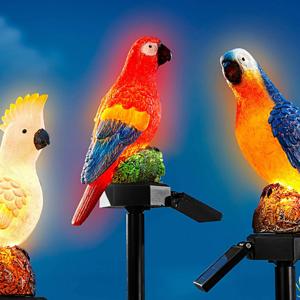 Solárny zápich Papagáj Egon