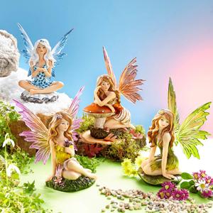 Figúrky Víly - Ročné obdobiami, súprava 4 ks