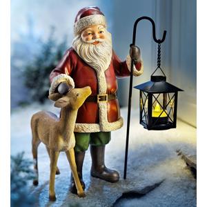 Zimné muž Nikolaus s LED lampášom