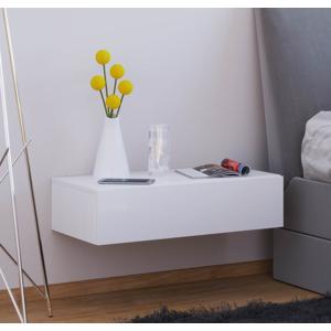 Nástenný nočný stolík Dormas Maxi, biely
