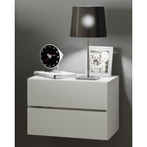 Nástenný nočný stolík Suda, biela