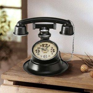 Retro hodiny Telefón