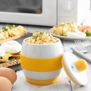 Keramický varič vajec do mikrovlnky