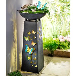 Dekoračný stĺp Motýle s LED osvetlením