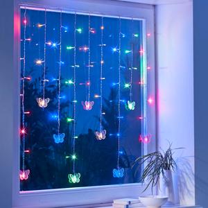 LED reťaz Motýle, 80 cm