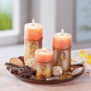 Dekoračná sada sviečok Zlatý čas