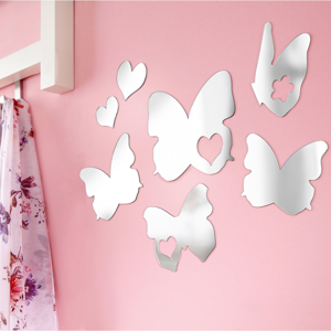 Zrkadlové samolepky Motýle, 7 kusov