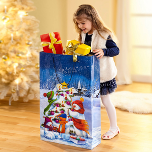 Maxi darčeková taška Snehuliaci