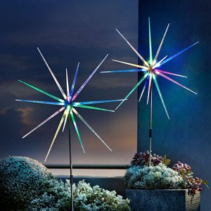 LED záhradný zápich Polárka, 2 ks