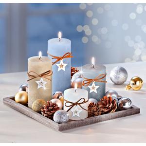 Dekoračná sada so sviečkami Vianočné kúzlo