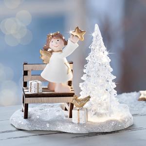 LED Dekorácia Anjelik u stromčeku