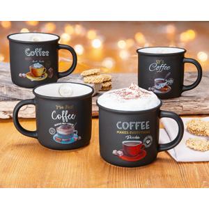 Hrnčeky Coffee, súprava 4 ks